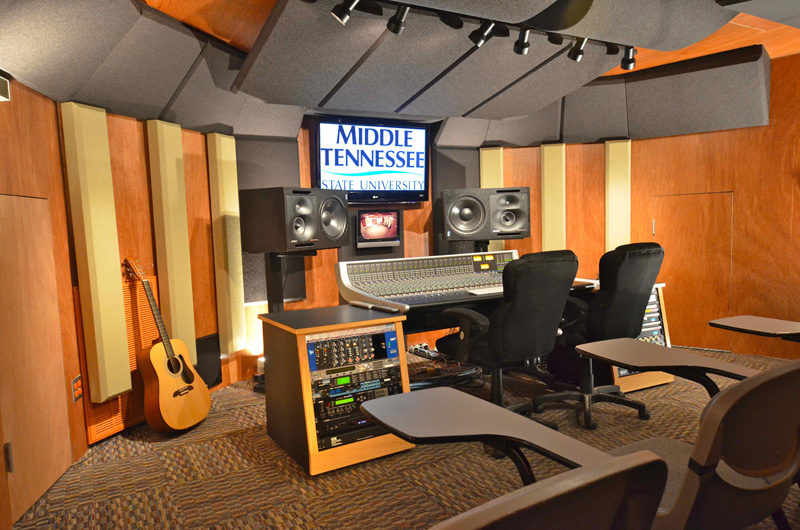 Custom designed studio middle tennessee state university for The family room recording studio