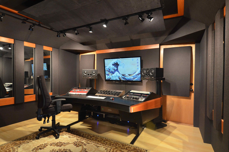 Custom designed studio the nest for Bedroom recording studio